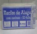 Recibo de Aluguel com canhoto 50fls pt c/20 unid