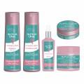 Alpha Line - Kit com 5 Produtos - Shampoo + Condicionador + Leave In + Máscara + Botox - Linha ControlFrizz - Para Cabelos Indisciplinados, Sensibilizados e Com Frizz