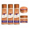 Alpha Line - Kit com 5 Produtos - Shampoo + Condicionador + Finalizador + Máscara + Botox Matizador - Linha Luminoplex com Vitamina B5