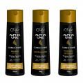 Alpha Line - Kit com 3 Produtos - Shampoo + Condicionador + Finalizador - Linha Cabelo Forte