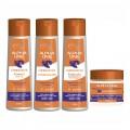 Alpha Line - Kit com 4 Produtos - Shampoo + Condicionador + Finalizador + Máscara - Linha Luminoplex com Vitamina B5